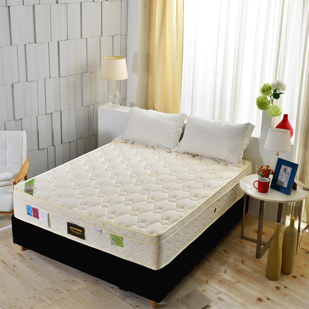 Ally愛麗-三線天絲棉涼感抗菌+高蓬度蜂巢獨立筒床墊-單人3.5尺-護腰床本月限定