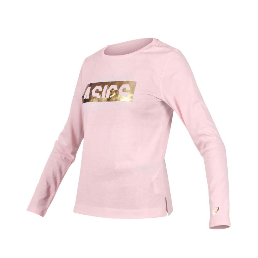 ASICS 女 長袖T恤 粉紅金