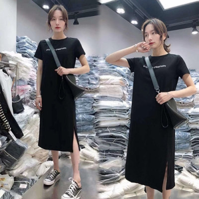 【韓國K.W.】(預購)玩美潮流簡約洋裝-2色