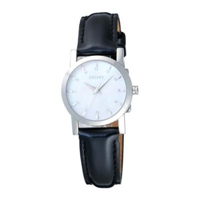 DKNY 玩弄色彩時尚腕錶-黑(NY4768)28mm