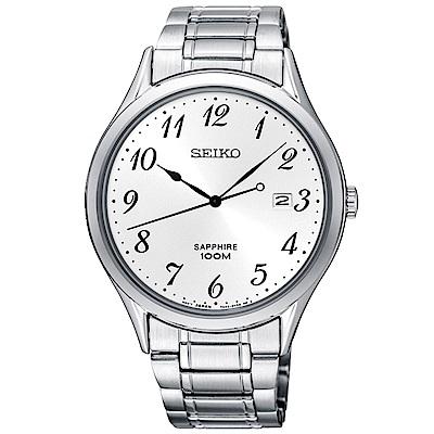 SEIKO 時光領袖藍寶石鏡面石英腕錶(SGEH73P1)-白/40mm
