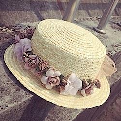 米蘭精品 草帽防曬遮陽帽-花環時尚海邊戶外出遊沙灘女帽子73eq48