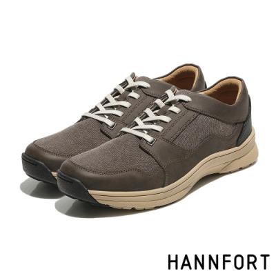 HANNFORT TORNADO牛皮水洗護趾氣墊戶外鞋-男-舒適咖