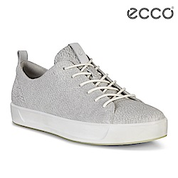 ECCO SOFT 8 LADIES 閃亮牛皮簡約休閒鞋 女-灰