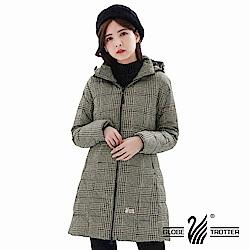 【遊遍天下】女款長版顯瘦防風防潑禦寒羽絨外套GJ22020黑黃