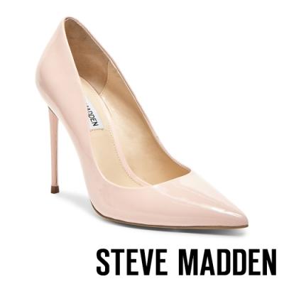 STEVE MADDEN-VALA摩登派對素面尖頭高跟鞋-鏡粉色