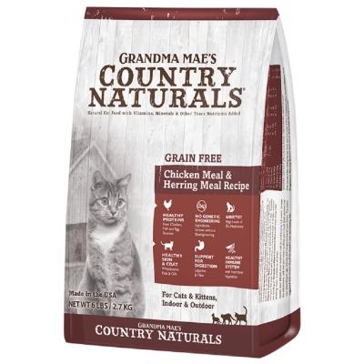 美國GRANDMA MAE S梅亞奶奶鄉村天然寵糧-全齡貓私房無穀鮮嫩雞 300g (三包組)