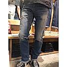 牛仔褲 男款 511低腰窄管 MIJ 雪地刷色 膝蓋開口破壞 - Levis