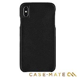 美國Case-Mate iPhone XS Max 簡約超薄真皮手機殼 - 黑