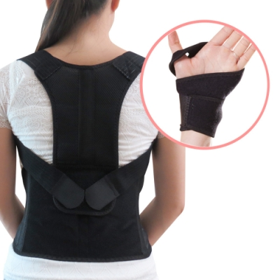 【JS嚴選】*發燒新品*健康減壓護脊板挺背帶(611美背+拇指護腕)