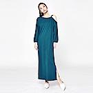 SUITANGTANG 露肩設計長版洋裝-藍