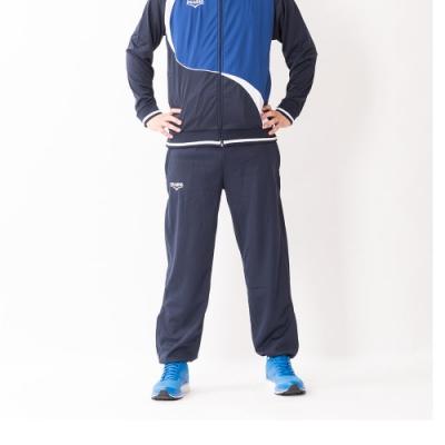 V.TEAM-男款針織長褲-藍