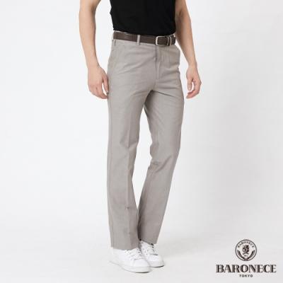 BARONECE 百諾禮士休閒商務  男裝 純棉組織平口休閒長褲--卡其色(1188885-84)