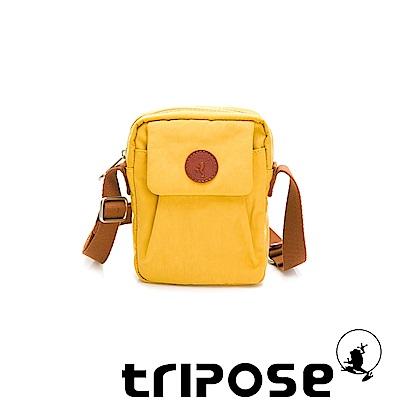 tripose PAN微皺尼龍直式斜背包-活力黃