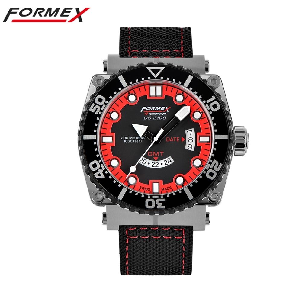 Formex 弗美克斯潛水系列石英GMT (紅)2100.3.2072.216