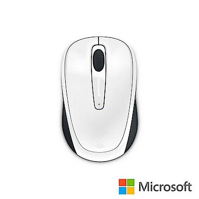 微軟 無線行動滑鼠 3500 - 亮白 盒裝