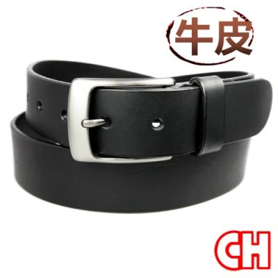 CH-BELT牛皮素材休閒正式中性皮帶腰帶(黑)