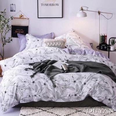 DUYAN竹漾 MIT 天絲絨-單人床包被套三件組-線語花