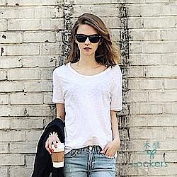 Lockers 木櫃 竹節棉短袖圓領寬鬆女T恤-7色