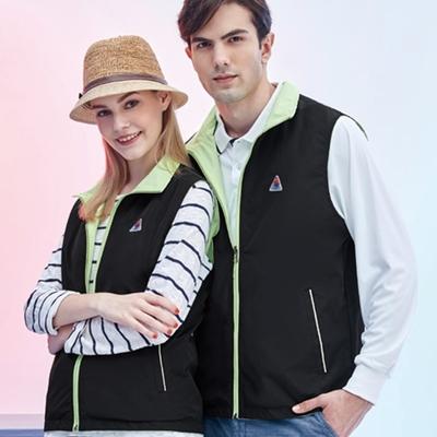 【SPAR】雙面男女中性版薄背心(S218608)淺綠色/黑色