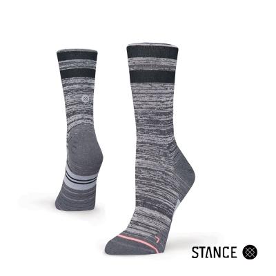 STANCE UNCOMMON SOLID RUN CREW-女襪-慢跑機能襪