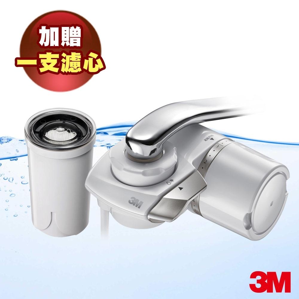 [1機1芯再送1芯] 3M 龍頭式濾水器特惠組AC300