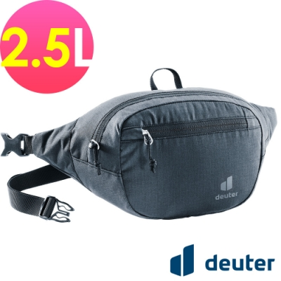 【deuter 德國】BELT II 2.5L休閒輕量腰包3900221黑/胸包/側背包/路跑/慢跑
