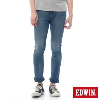 EDWIN 大尺碼直筒褲 迦績褲酷涼PK牛仔褲-男-石洗藍