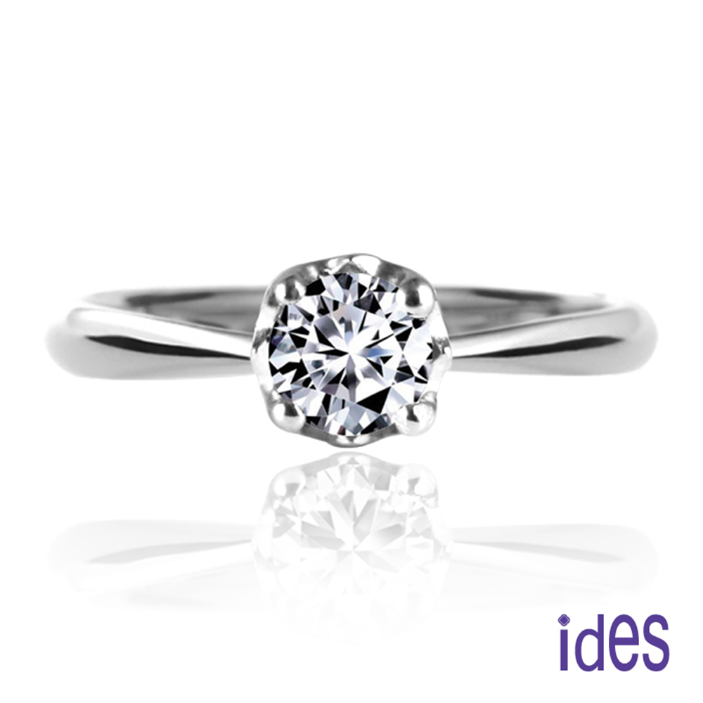 (無卡分期12期) ides愛蒂思 30分E/VS1八心八箭完美車工鑽石戒指/花苞