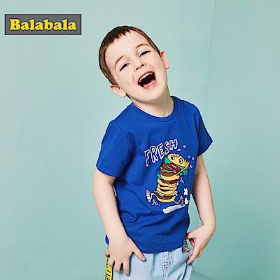 Balabala巴拉巴拉-漢堡與朋友們印花短袖T恤-男(2色)