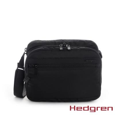 【Hedgren】INNER CITY層層收納 側背包-墨黑