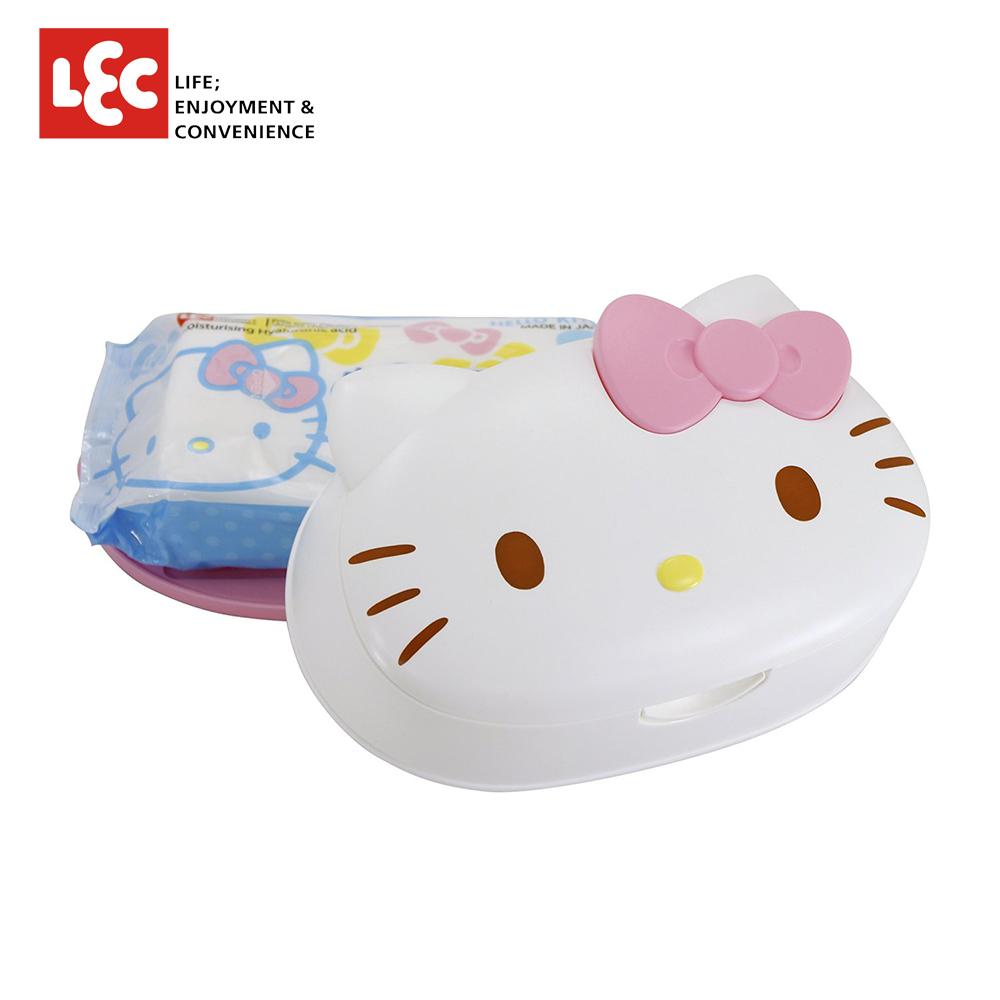 日本LEC Hello Kitty凱蒂貓純水99.9%盒裝濕紙巾 80抽/盒