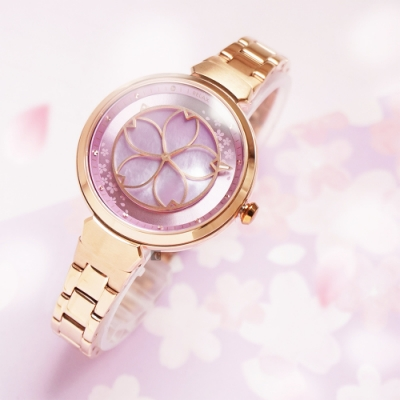 RELAX TIME 年度設計錶款 綻放系列 櫻花手錶-粉紫 RT-72-6