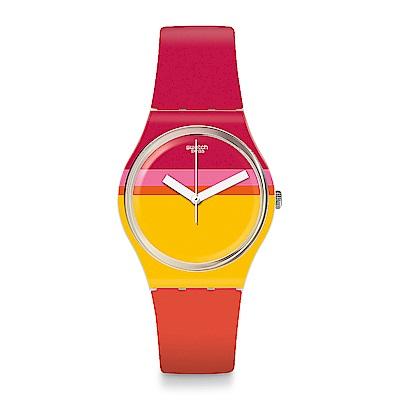 Swatch THINK FUN系列 ROUG'HEURE 熱情粉彩手錶