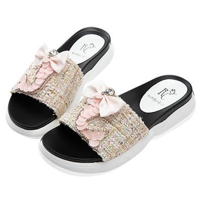 Robinlo 華麗鑲鑽美人魚涼拖鞋 粉色