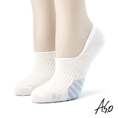 A.S.O長效抑菌系列-隱形襪-白色