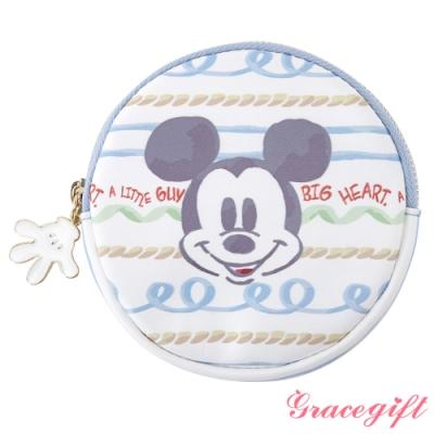 Disney collection by Grace gift米奇可愛圖案圓形零錢包