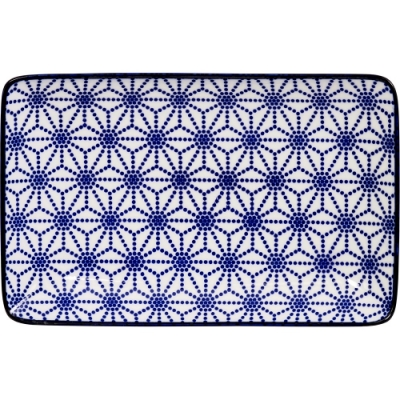 《Tokyo Design》瓷製長方餐盤(星點藍20.5cm)