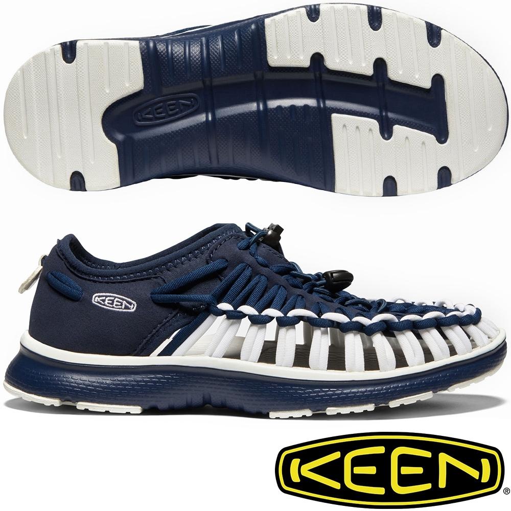 KEEN 1021993深藍 Uneek O2 女戶外護趾編織涼鞋/繩編鞋
