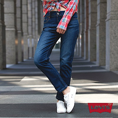 Levis 女款 男友褲 中腰寬鬆版牛仔長褲 Boyfriend Fit 彈性布料