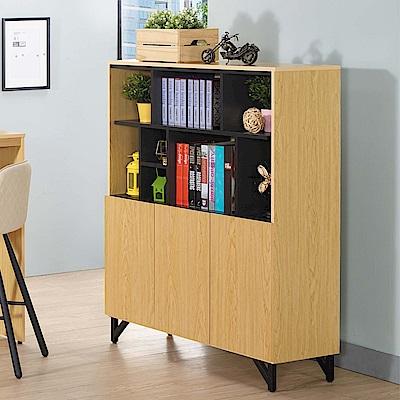 D&T 德泰傢俱 WEDA時尚風格3.8尺書櫃-114x37x133.5cm