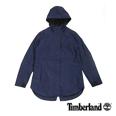 Timberland 女款航海藍防水連帽外套