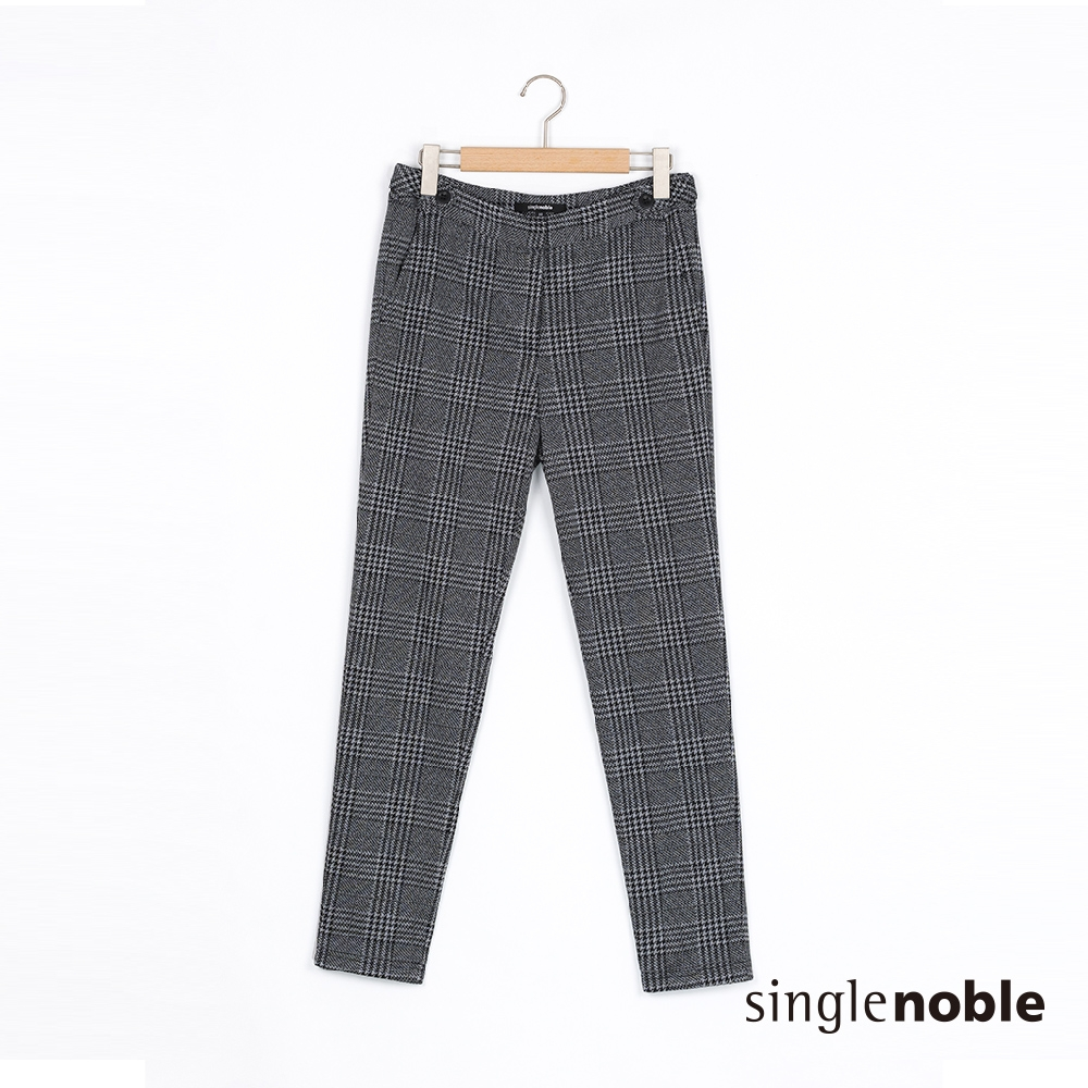 獨身貴族 經典復古英倫格紋九分長褲(2色)