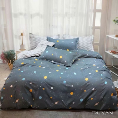 DUYAN竹漾 MIT 天絲絨-單人床包枕套兩件組-小小星球
