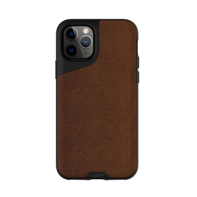 Mous Contour iPhone 11 Pro 天然材質防摔保護殼-摩卡皮革