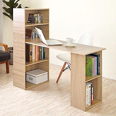 《HOPMA》DIY巧收伍德4+2書櫃型書桌