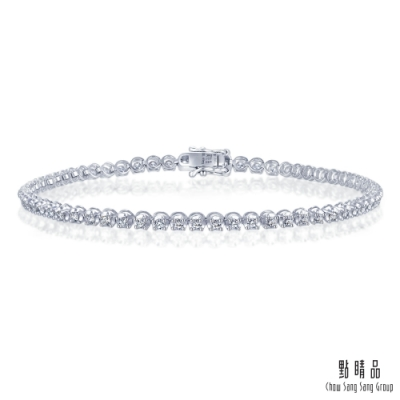點睛品 1克拉閃耀圓鑽 18K金鑽石手鍊
