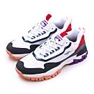 KangaROOS 經典撞色復古越野慢跑鞋 NEON藍標系列 白藍紅 91186
