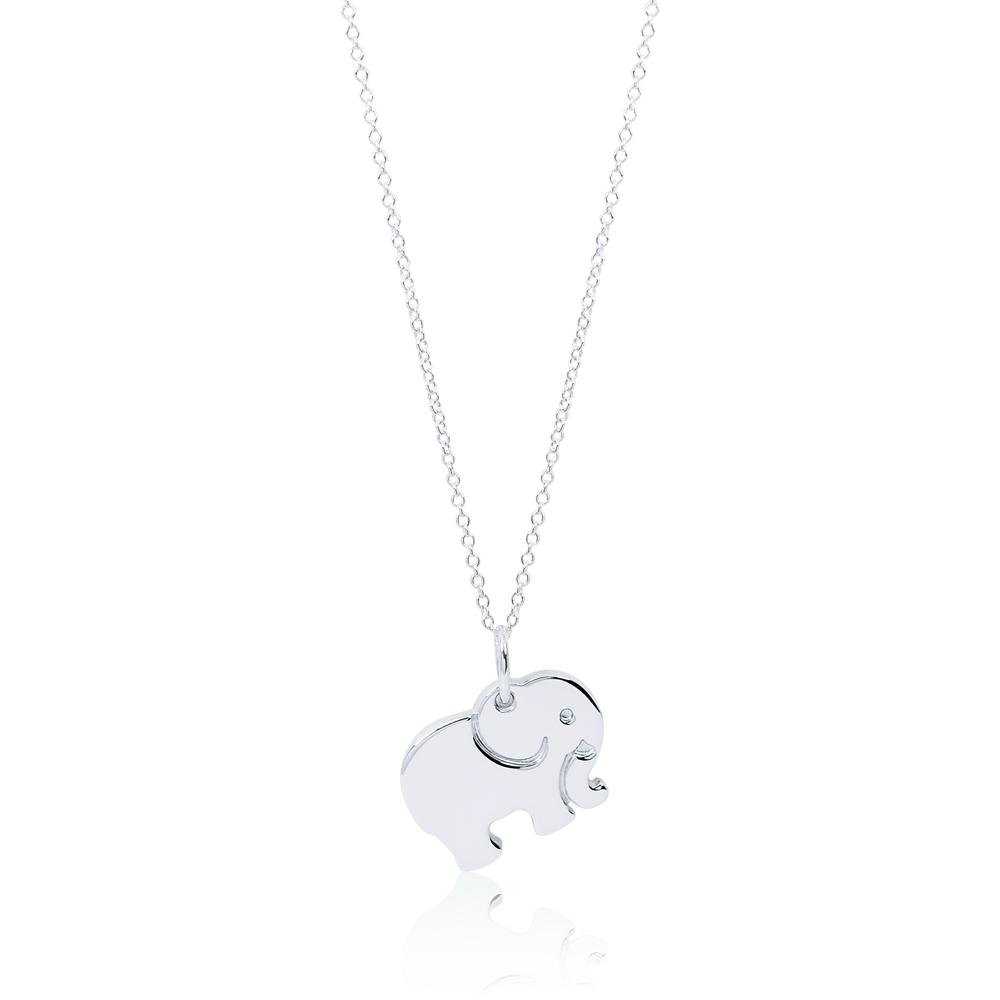 Tiffany&Co. CHARMS Never Forgets大象造型刻字純銀項鍊 @ Y!購物