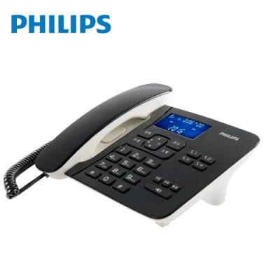 PHILIPS 飛利浦 時尚設計超大螢幕有線電話(黑) CORD492B/96